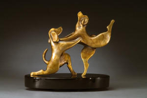 "Bronze Beagle Sculpture - ""The Proposal"""